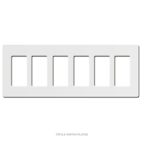 Lutron Screwless 6 Decor Plastic Wall Switchplate - White