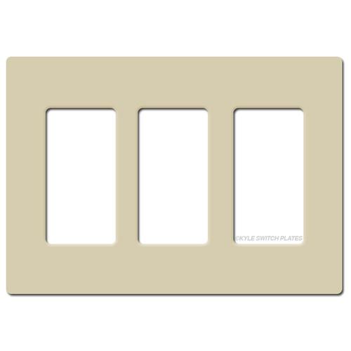 Screwless 3 Decor GFI Electrical Wallplate Lutron - Ivory Plastic