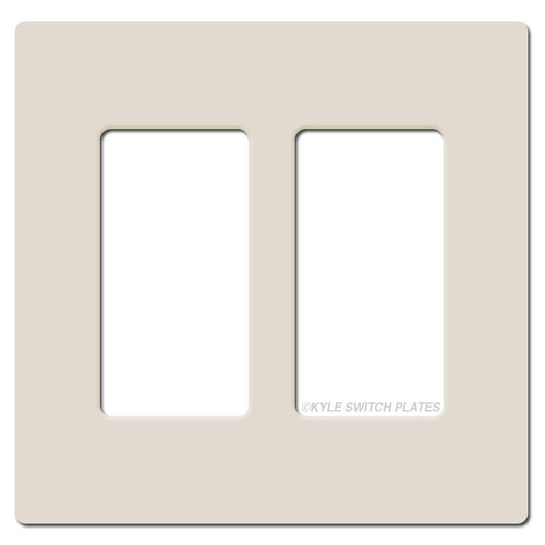 Screwless 2 Decor GFCI Plastic Wall Plate Lutron - Light Almond