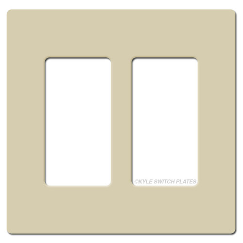 2 Decor GFCI Plastic Light Switch Cover Lutron - Ivory
