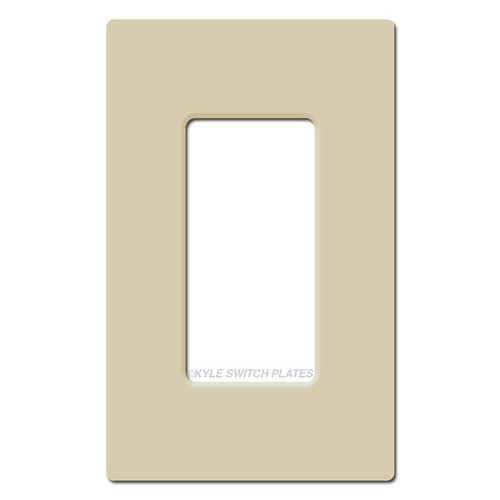 1 Decor Rocker Screwless Switch Plate Cover Lutron - Ivory