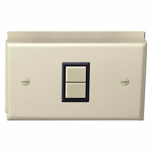 Surface Mount 1 Switch GE Low Voltage Cover Set - Ivory