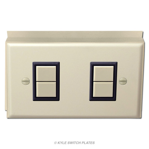 Low Voltage 2 GE Light Switch Surface Mounted Unit - Ivory