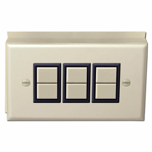 3 Switch GE Low Voltage Surface Mount Cover Unit - Ivory