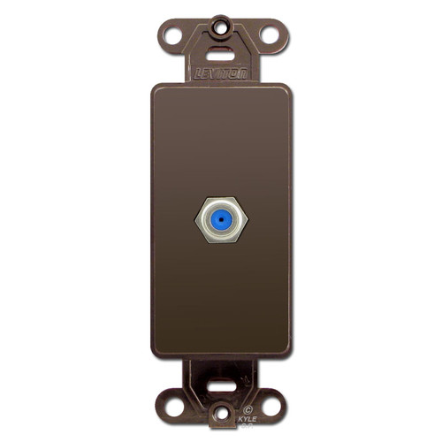 Brown Wall Plate Insert with Decora Cable Coaxial Jacks