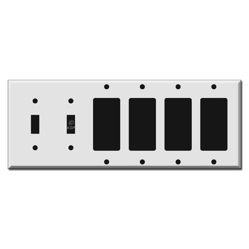 2 Toggle + 4 Decora Rocker GFI Switch Wall Plates