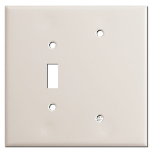 Jumbo Blank Toggle Switch Wallplate - Light Almond