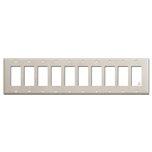 10 Gang Decora Rocker GFCI Wall Switch Covers - Light Almond