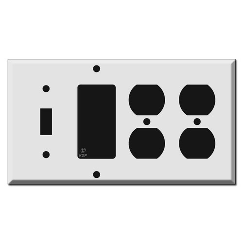 1 Toggle 1 Rocker 2 Duplex Outlet Switch Wall Plates