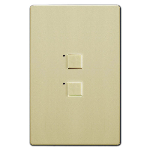 Touchplate Mystique Low Voltage 2 Switch LED Control - Ivory