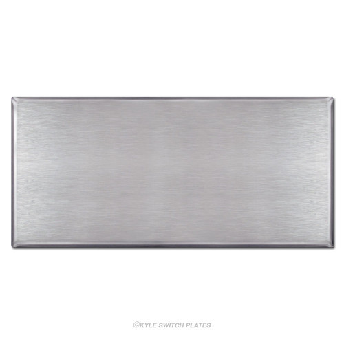 """Oversized 11.5"""" x 5.5"""" No Hole Blank Wallplate - Stainless Steel"""