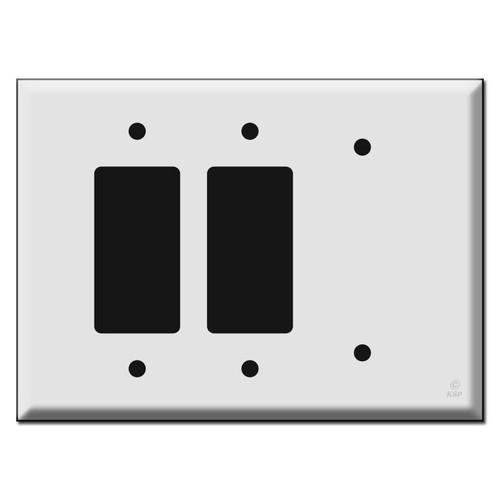 Oversized 2 Decor Rocker 1 Blank Wall Switch Plate