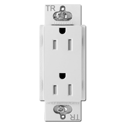 Decor Outlet Receptacle 15A Lutron Claro Tamper Resistant - White
