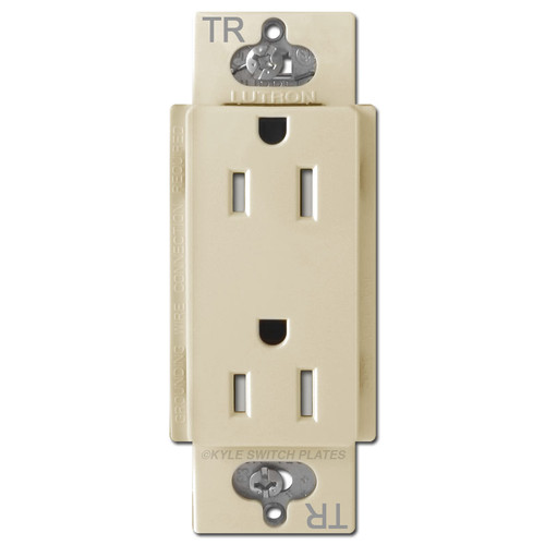 Decor 15A Receptacle Tamper Resistant Lutron Claro - Ivory