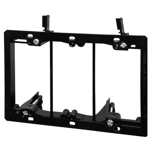 3-Gang Low Voltage Mounting Bracket for Old Work Construction