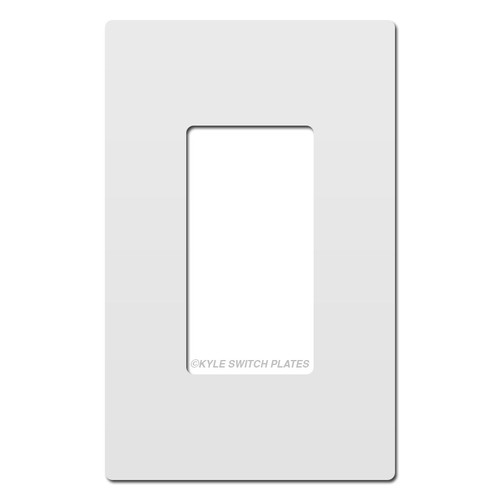White Plastic Screwless Wall Plate Cover - 1 Gang Legrand