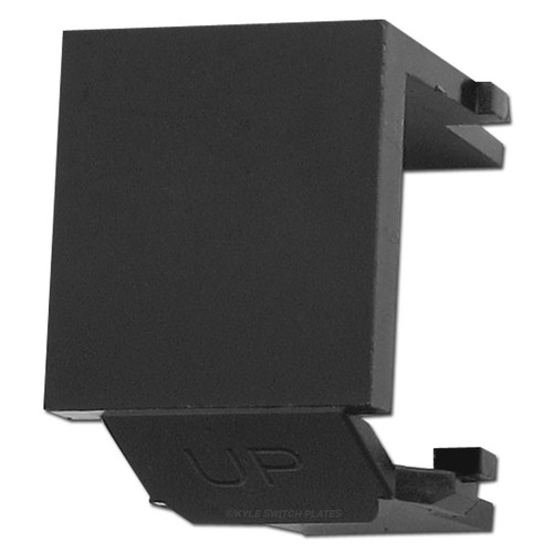 Leviton Black Snap-In Blank Module for QuickPort Multimedia Frame