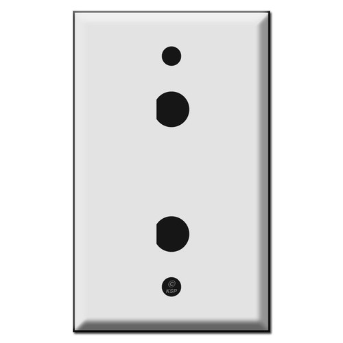 """Dual 1/2"""" """"D"""" Hole Coaxial Jack Wall Plate Covers"""
