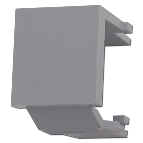 Leviton Gray Snap-In Blank Module for QuickPort Multimedia Frame