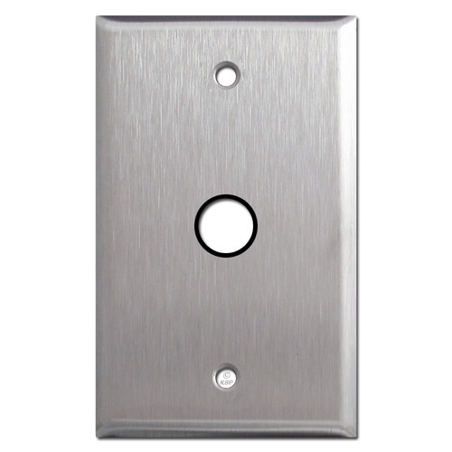 Stainless Steel 1-Gang Plates with Round Opening + Grommet