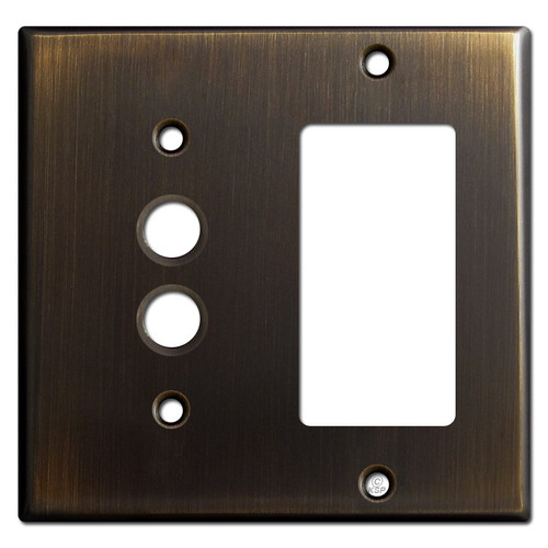Pushbutton + Decor Wall Switch Cover - Oil Rubbed Bronze