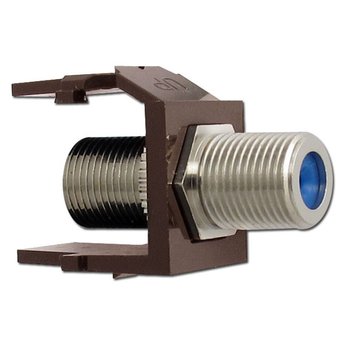 Leviton Brown Cable Jack for Quick Port Frames