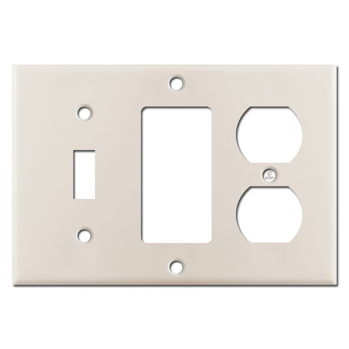 Outlet Decora Toggle Wall Plate Cover - Light Almond