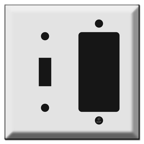 Deep Bevel Decora Toggle Wall Switch Plate Covers