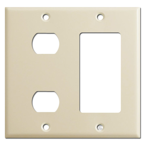 2 Sideways Despard Toggle + 1 Decor Outlet Cover - Ivory