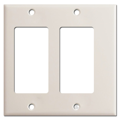 Narrow Offset 2 Decor Wall Switch Covers - Light Almond