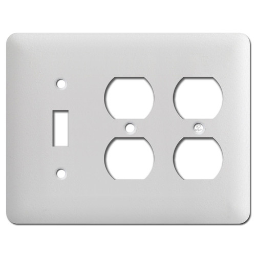 Taller 2 Duplex 1 Toggle Wallplate Cover - White Wrinkle