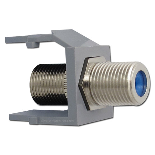 Leviton Gray Cable TV Jack for Quick Port Frames