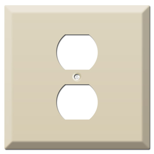 Deep 2-Gang Middle Outlet Cover Wallplate - Ivory