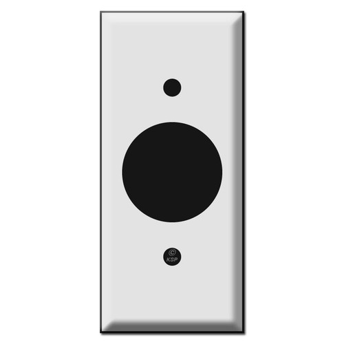 "2'' Narrow 1.4"" Round Outlet Cover Wallplate"