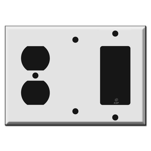 Duplex Blank Decora Wall Switch Covers