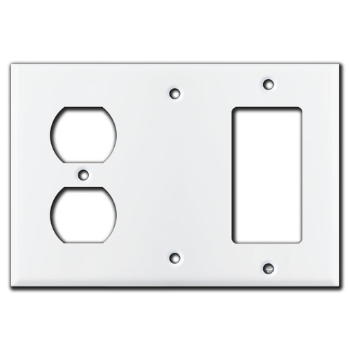 Decora Blank Receptacle Switch Cover - White