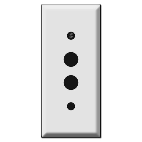 Narrow 2'' Push Button Wall Switch Covers
