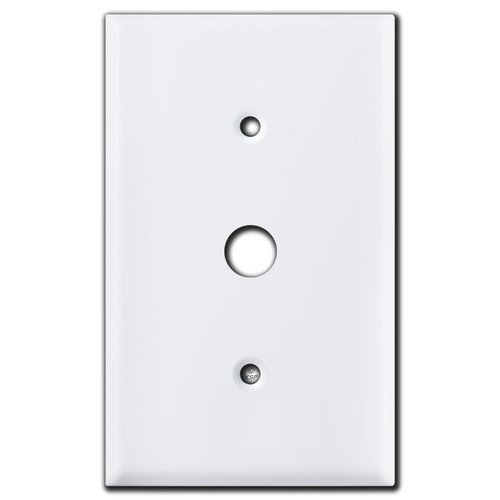 .5'' Round Hole Cover Plate - White