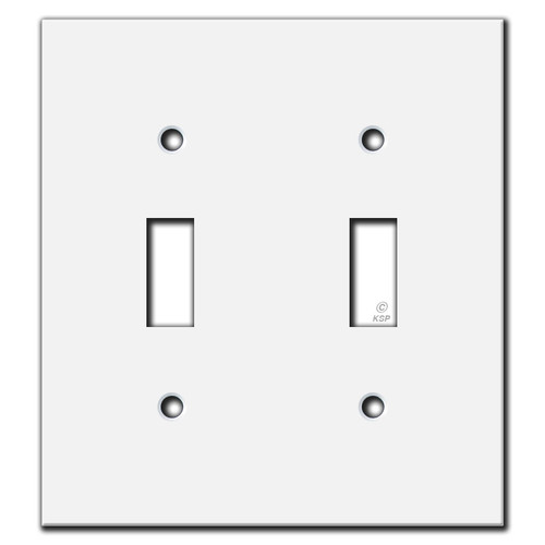 "Flat Light Switch Covers - only 4.12"" wide"