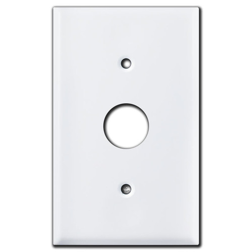 7/8'' Control Device Mount Wall Plate Cover - White