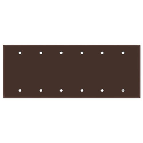 6 Blank Electrical Light Switch Trim Plate - Brown