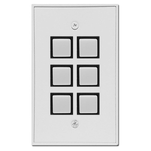 Touch-Plate Industrial Low Voltage Momentary 6 Switch Plate Unit