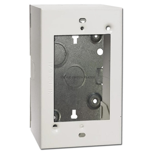 Switch & Outlet 1.375'' Deep Electrical Box Ring 1-Gang