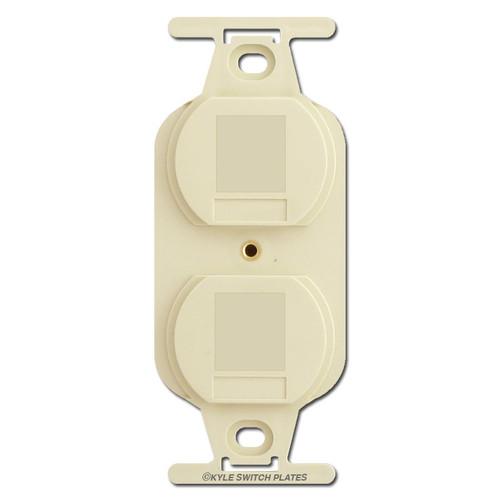 Ivory Duplex Outlet Blank Filler Insert