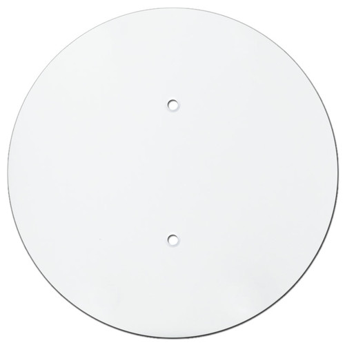 7'' Blank Round Ceiling Outlet Cover for 3.25'' Electrical Box