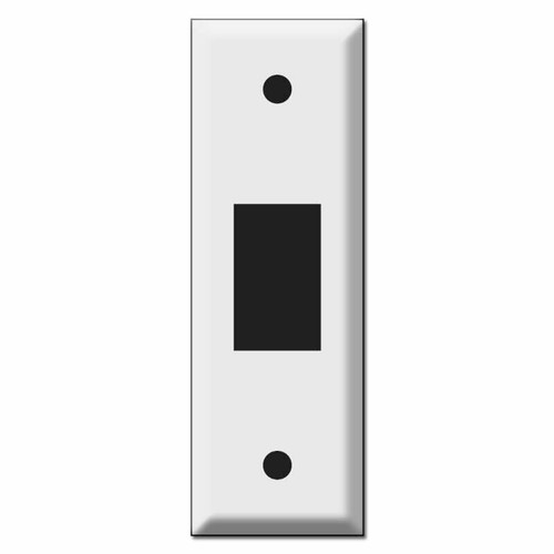 1.5'' Narrow New Style Vertical GE Low Voltage Switch Plates