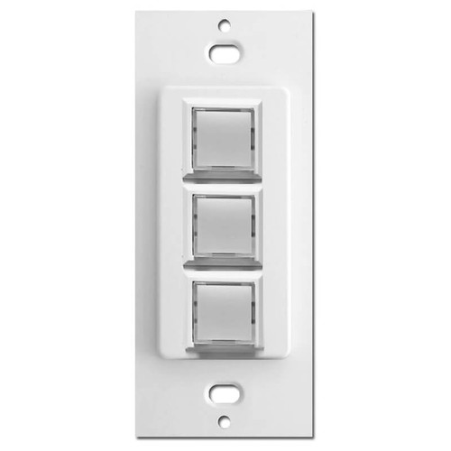 Touch Plate Low Voltage Switch 3 Button Innova Control - White