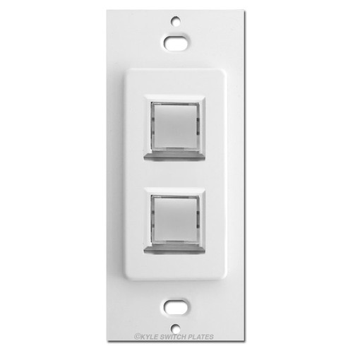 Touch-Plate Low Voltage Innova 2 LED Light Switch Control - White