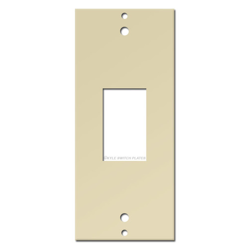 GE Switch Low Voltage Vertical Decor Plate Insert - Ivory