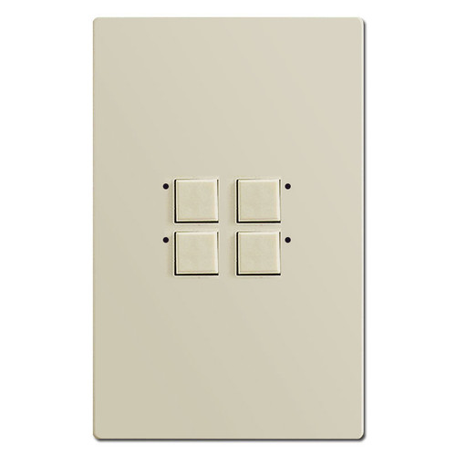 Touch Plate Mystique 4 LED Switch Control - Almond